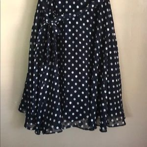 Betsey Johnson Dresses - Betsey Johnson polka dot dress bows tie 6 chiffon